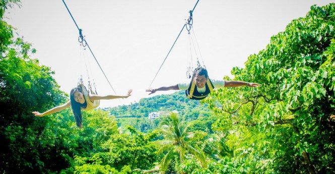 Boracay honeymoon zipline