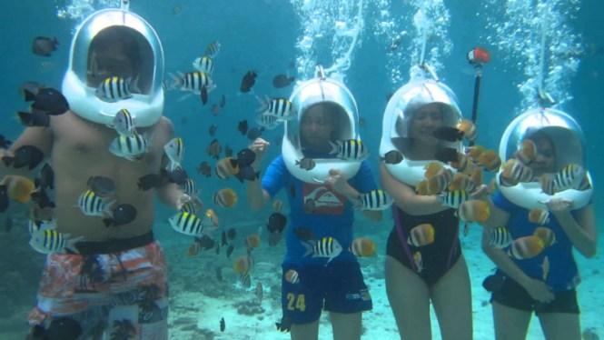 Boracay honeymoon helmet diving boracay