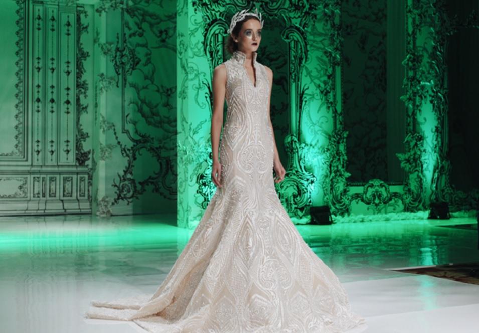 wedding gown designers - Imelda Kartini - Brown Platform