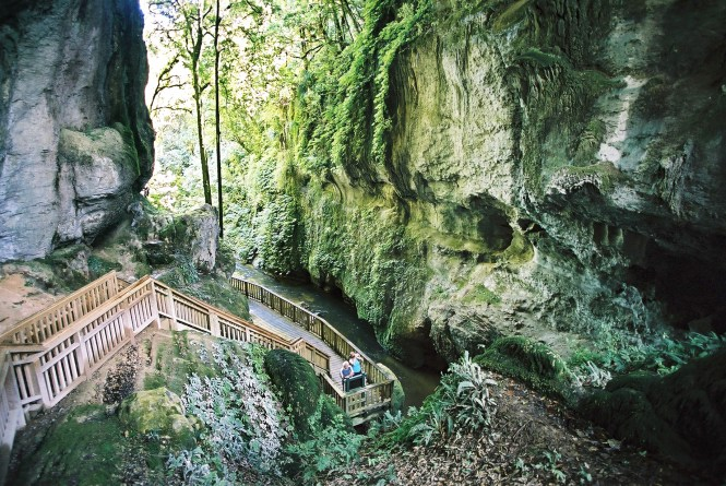 New Zealand Honeymoon Mangapohue Natural Bridge