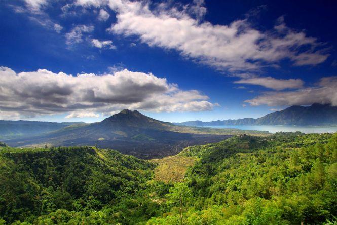 Mount Batur and Lake Bali