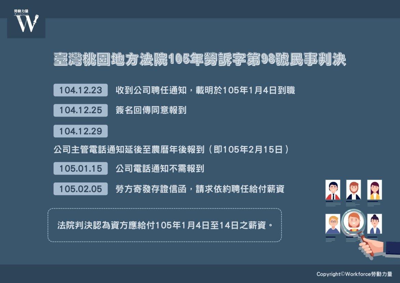 臺灣桃園地方法院105年勞訴字第98號民事判決