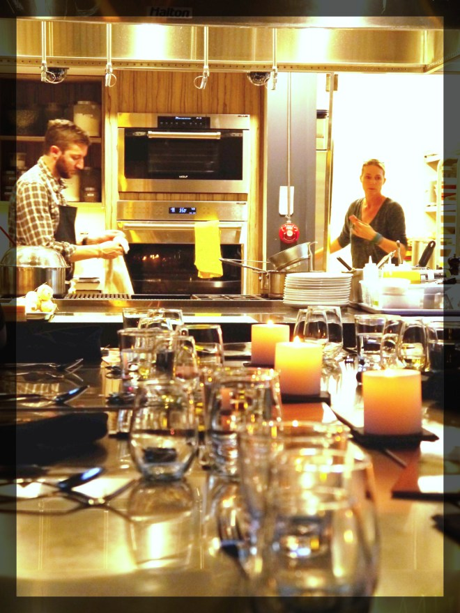 Chefs Eric Hanson and Kathryn Joel at Get Cooking