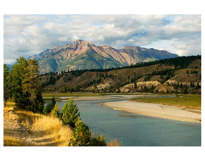 Bull Mountain of the Steeples Mountain Range by the Kootenay River (photo credit: Janice Strong)