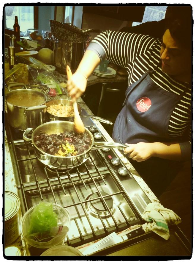 Making walrus masala