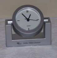 Showing the clock rotated upwards