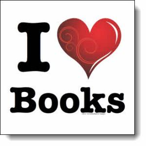 I love Books / I ♥ Books! — Swirly Curlique Heart #2