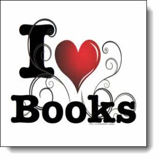 "Like ivy twisting through a fence bordering a shady park filled with rose bushes this ""I love books"" design brings to mind the warm hospitality of Savannah."