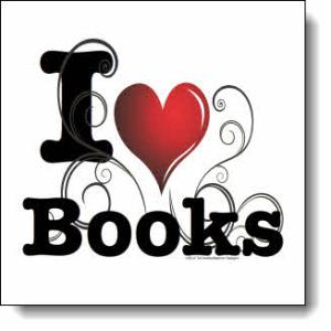 I love Books / I ♥ Books! — Swirly Curlique Heart #4