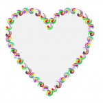 "Click to see a Large view of the heart from the ""I love Books! / I ♥ Books! -- Colorful Swirls"" design"