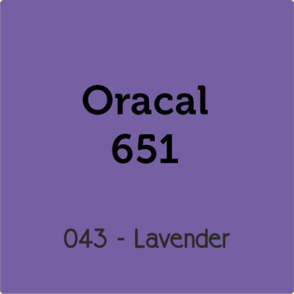 Oracal 651 Vinyl for Decals
