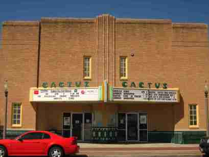 The Cactus Theater is a major part of the Depot District