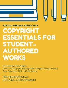 TxETDA Webinar Series 2019 - Texas ETD Association