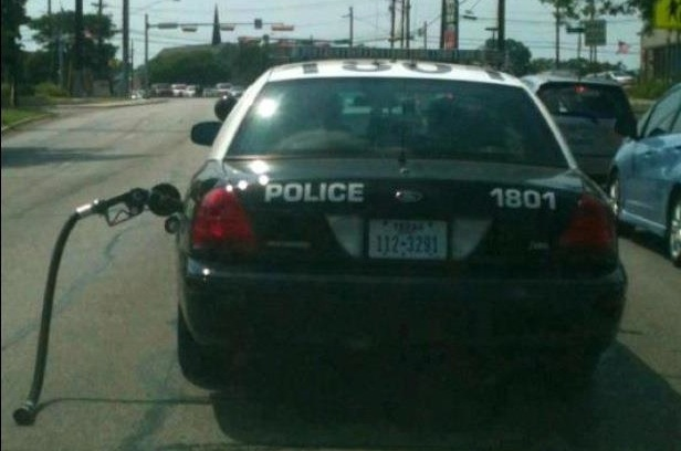 Austin Police  too busy to remove gas nozzle  txGarage