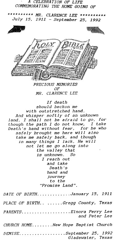 McCauley Funeral Home Programs Index