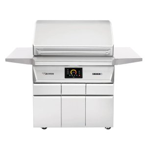 Twin Eagles Wi-Fi Controlled 36-Inch Stainless Steel Pellet Grill and Smoker On Deluxe Cart