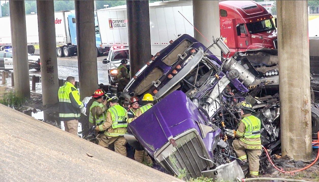 I 30 Texarkana West Reopens After Major Accident PICS