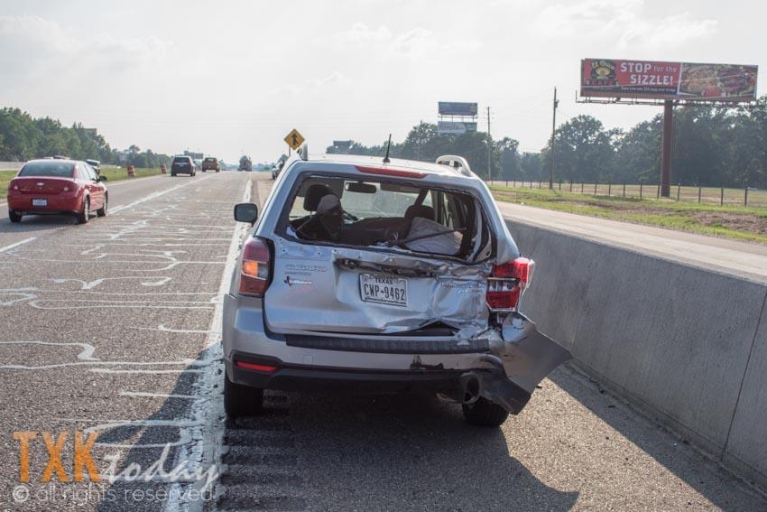 Major 3 Vehicle Accident Involving Motorcycle I-30 at I-49