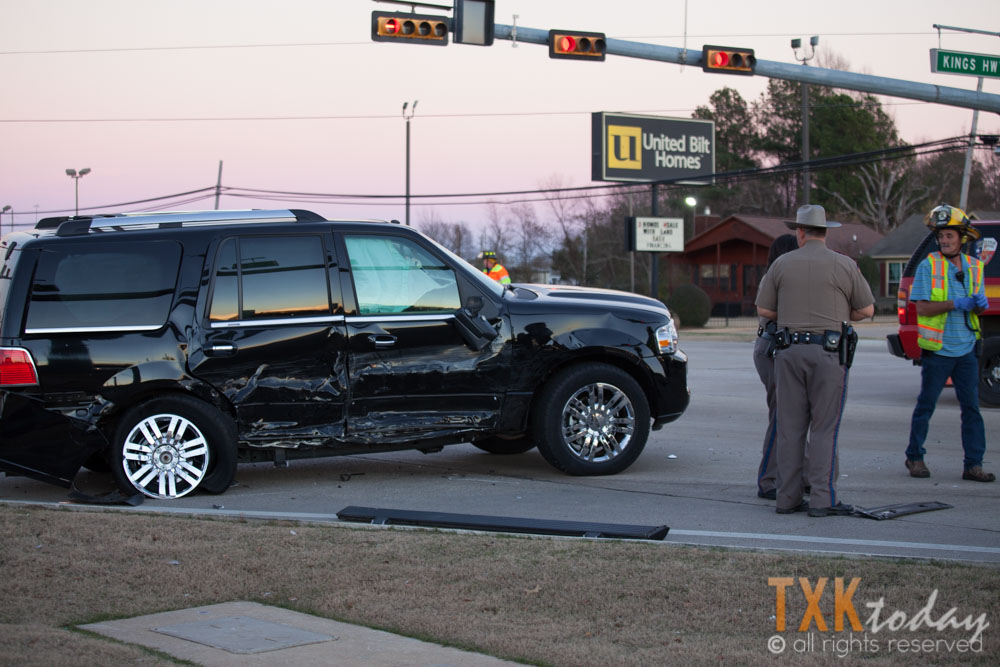 Collision at Highway 59 and Kings Highway Sends One to