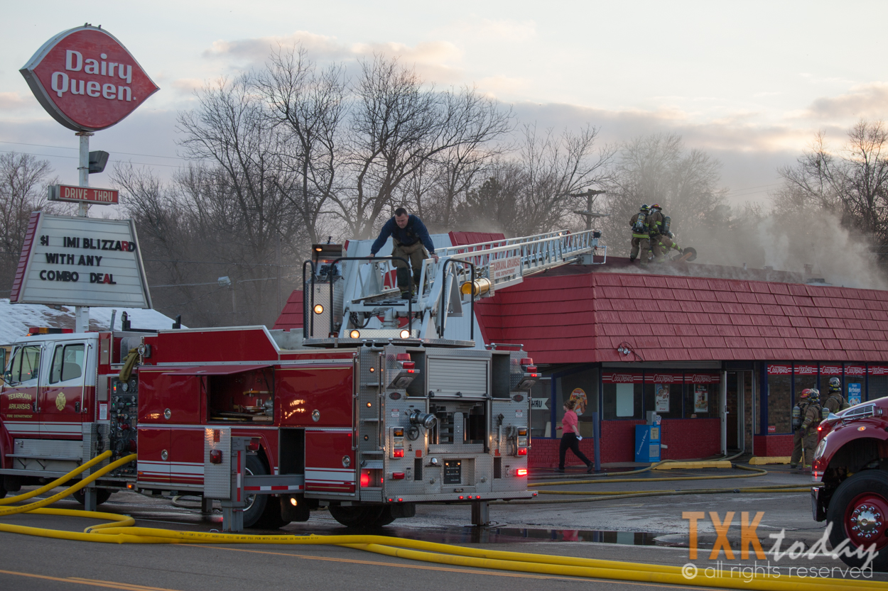Out Of Control Oven Fire At Dairy Queen Texarkana Today