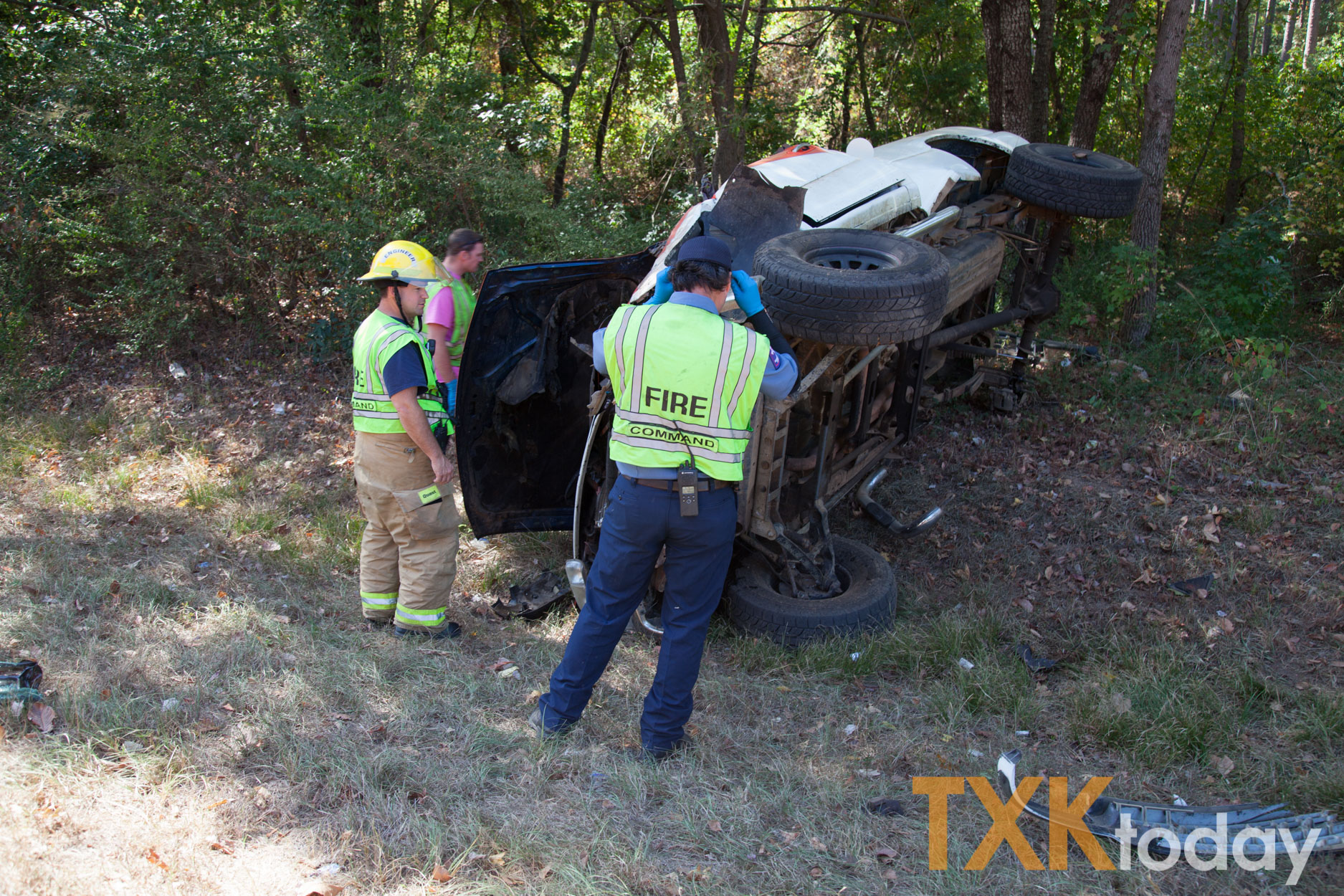 Rollover accident on Kings Highway sends one to hospital