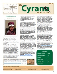 Cyrano Newsletter thumbnail for Quarter 1, 2018
