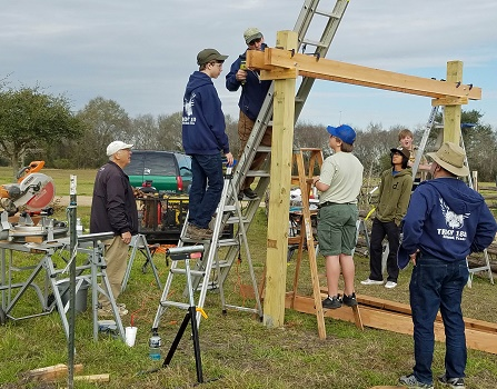 Scouts work on Pergola2-1-26-19-LT
