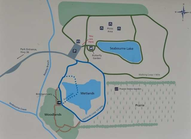 Detailed map of Seabourne Nature Park showing sections of the park.