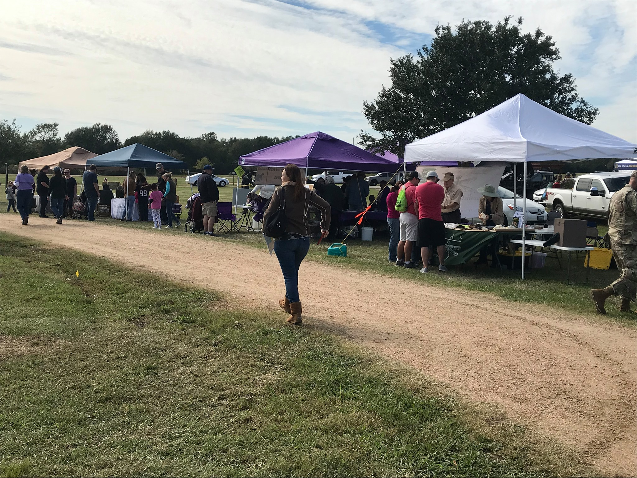 Photo showing several booths at the nature fest.