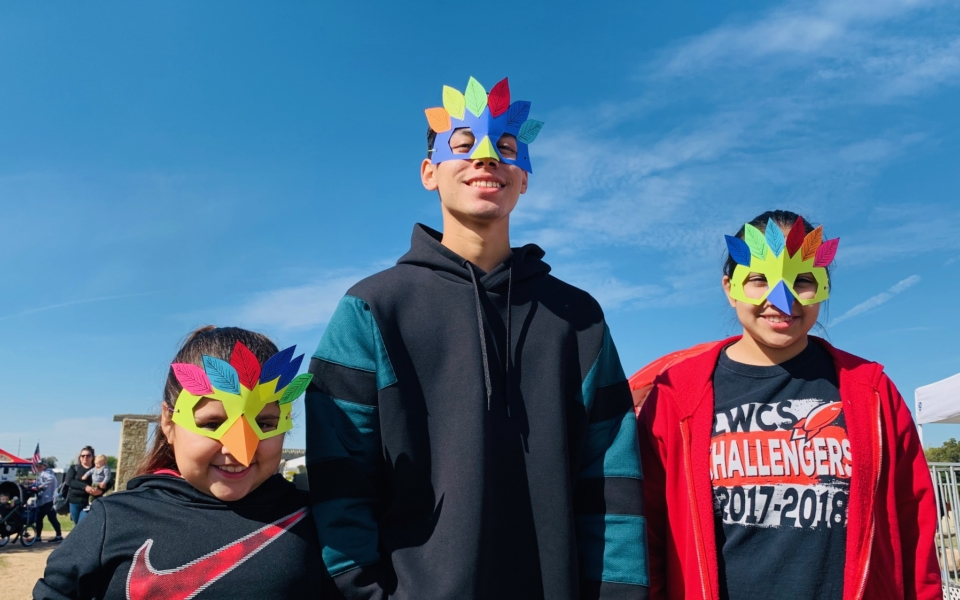 2019 SNF: three visitors in bird masks