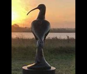 Eskimo Curlew sculpture photo from Galveston Nature Tourism.org