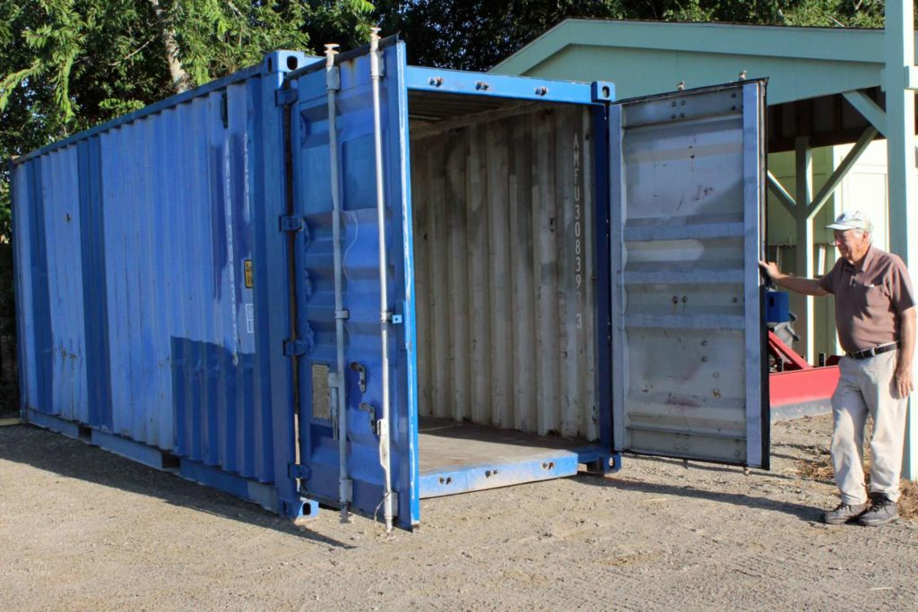 Jerry Trenta and new container for storage