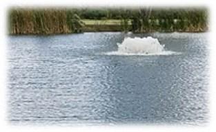 Surface aerator on Seabourne Lake