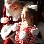Santa and a happy child