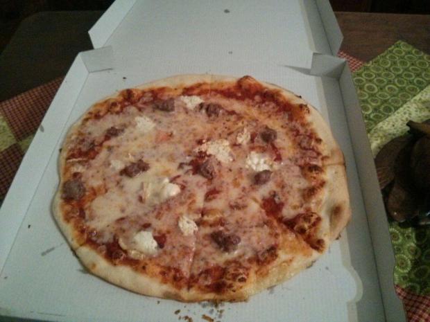 La foto no es la mejor, pero la pizza sí.