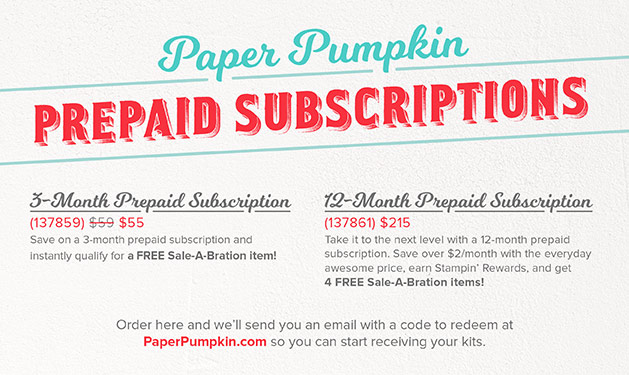 Paper Pumpkin Sale plus Saleabration choices