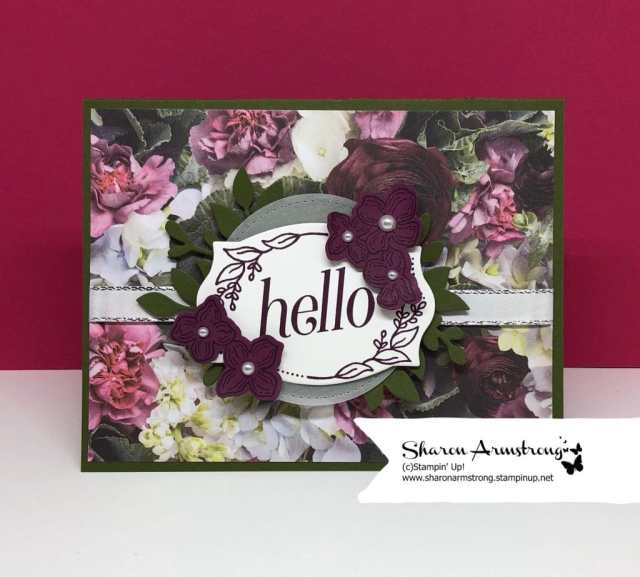 easy card making for beginners with designer series paper