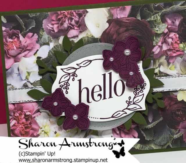 stampin up floral frames