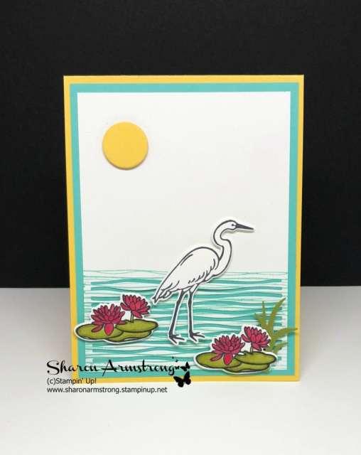 Stampin up lilypad lake card design ideas
