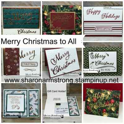 Merry Christmas To All Online Card Class
