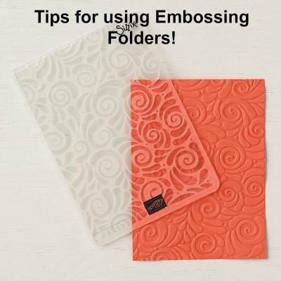 Tips for using Embossing Folders