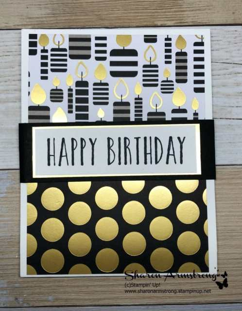 Handmade Birthday Card: Doubles as Gift Card Holder?! Sounds intriguing right? I'm teaching you how to make this fun handmade birthday card step by step. Fall in love with cardmaking and DIY handmade birthday cards! -Sharon Armstrong-TxStampin Sharon- #birthdaycards #handmadebirthdaycards, #cardmaking #greetingcards #SharonArmstrong #TxStampin
