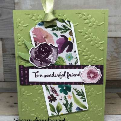 Easy Handmade Card with Bookmark Accent