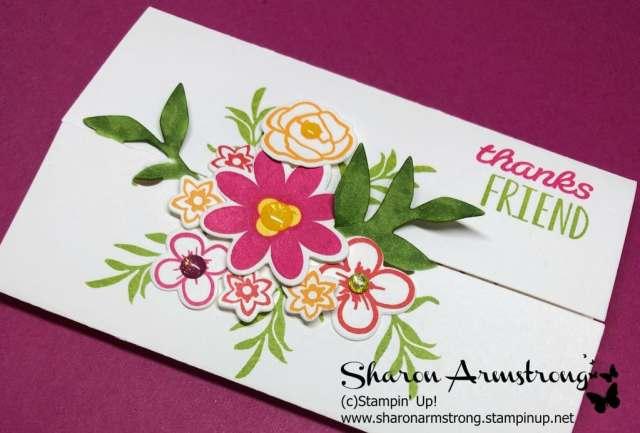 Handmade Card Image: Gate Fold Card Featuring Flowers