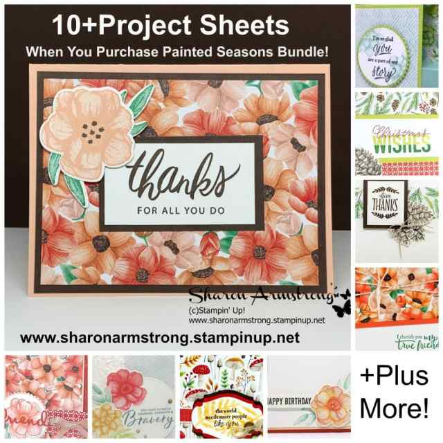10-Project-Sheets-with-Purchase-from-Sharon-Armstrong-Tx-Stampin