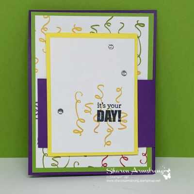 Make a Festive Fun Fold Birthday Card