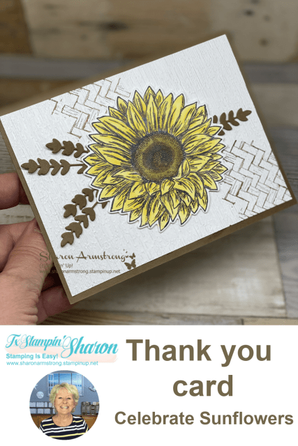 handmade-thank-you-card-by-sharon-armstrong-with-celebrate-sunflowers