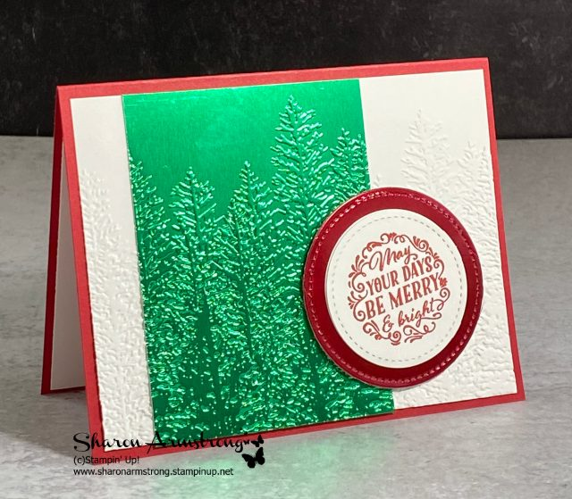 3-elegant-christmas-cards-with-green-foil-paper-and-embossed-trees