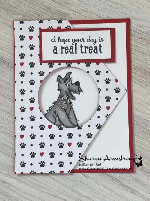 Tell your dog lovers that you hope their birthday is a real treat with this handmade card