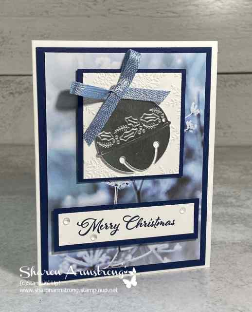 The Stampin' Up! Cherish the Season bundle lends itself to easy Christmas cards